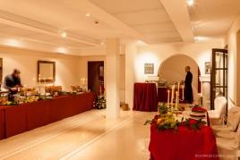 Sala allestita con buffet rinascimentale