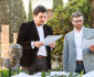 Giardino Superiore - Il Direttore della CSMBR F. Bigotti e il Vicepresidente della Fondazione Comel T.M. Pedrotti Dell'Acqua